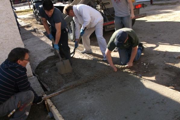 Replacing the sidewalk at ICB